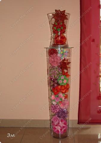 всем доброго утра,дня и ночи! я опять с кусудамами), насобиралось немного Name: Little Roses  Designer: Maria Sinayskaya Parts:30 Paper: 4*8 cm  фото 18