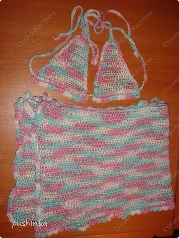 Пляжный костюмчик для маленькой модницы