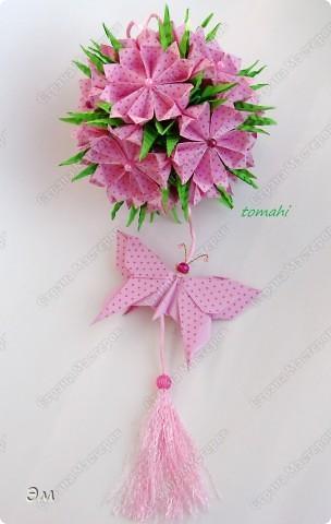 всем доброго утра,дня и ночи! я опять с кусудамами), насобиралось немного Name: Little Roses  Designer: Maria Sinayskaya Parts:30 Paper: 4*8 cm  фото 11
