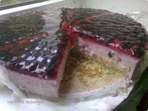 """Творожно-йогуртовый торт """"Черная смородина"""" фото 13"""