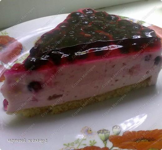 """Творожно-йогуртовый торт """"Черная смородина"""" фото 1"""