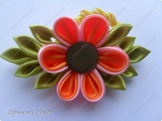 """резиночка для волос """"Летний цветок! фото 1"""
