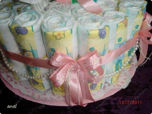 Для маленькой принцессы.Розочки я делала из гофрированной  бумаги и внутри каждого бутончика будут деньги и пожелания.Надеюсь мой подарочек понравиться. фото 4