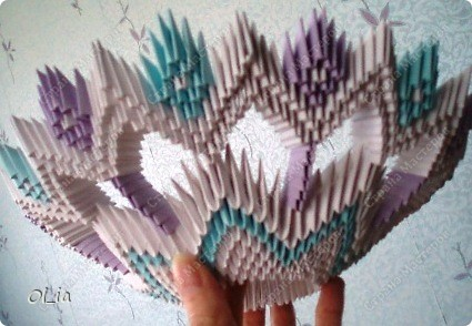 Ваза (модульное оригами) фото 3