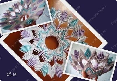 Ваза (модульное оригами) фото 1