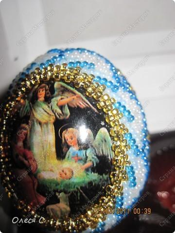 Пасхальные яйца из бисера фото 1