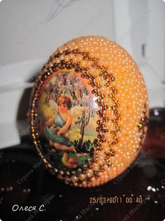 Плетение - Пасхальные яйца из бисера.