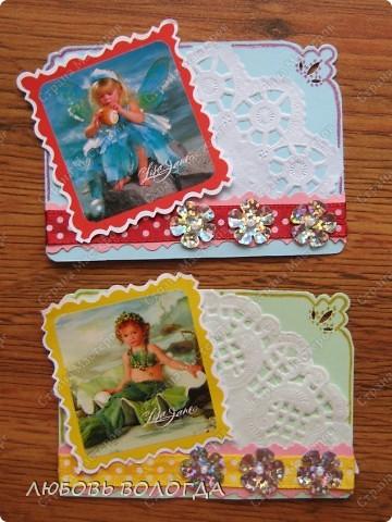 """Решила отдохнуть от """"серьезных"""" тем, просто для настроения сделала эти яркие карточки. Очень нравятся Фотографии Лизы Джейн, просто сказочные девчушки. Приглашаю моих кредиторов Azhgihinanata, Лидию Петровну hobby66, Ольгу favilla, и если вдруг кому еще должна, скажитесь! Если нравится - выбирайте! фото 4"""