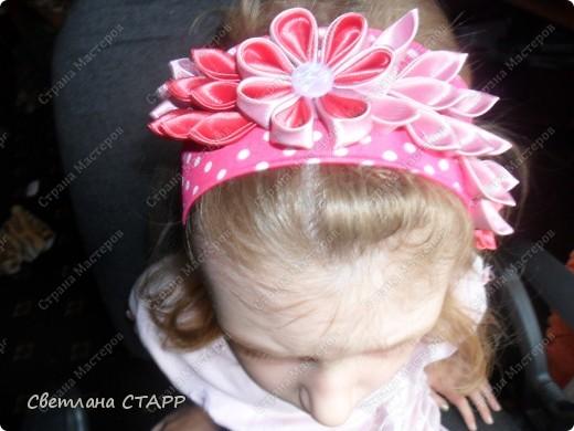Повязочка на волосы для девочки. фото 2
