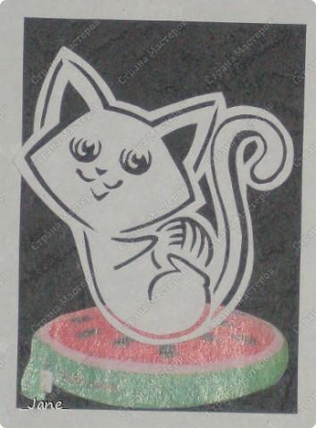 Все вместе. Котята вырезаны вручную. фото 8