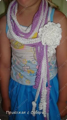Летний шарфик-украшение фото 1