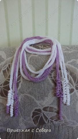 Летний шарфик-украшение фото 2