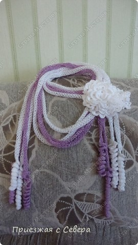 Летний шарфик-украшение фото 3