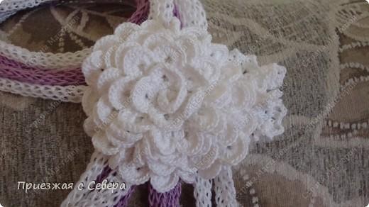 Летний шарфик-украшение фото 4