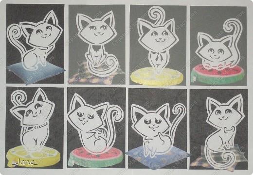 Все вместе. Котята вырезаны вручную. фото 1