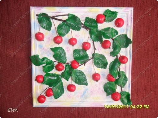 сами яблочки из соленого теста,листочки холодный фарфор размер рамочки 25x25