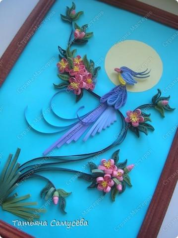 """Еще одна работа в Стране на тему """"Райская птичка"""". Именно её выбрала в качестве подарка на день рождения мамы. фото 2"""