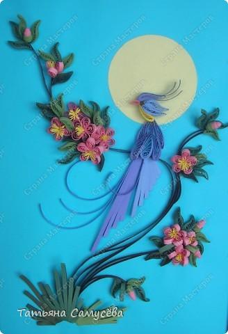"""Еще одна работа в Стране на тему """"Райская птичка"""". Именно её выбрала в качестве подарка на день рождения мамы. фото 1"""