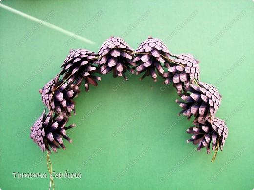 Корзина из сосновых шишек. фото 5