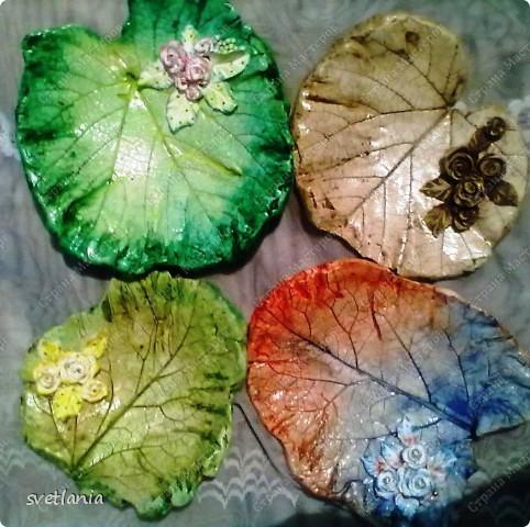Листья с розами из гипса! фото 1
