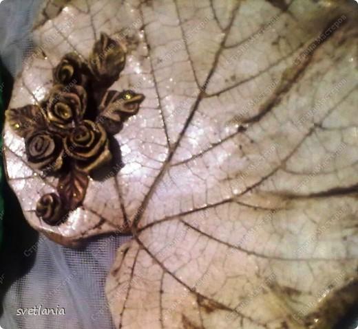 Листья с розами из гипса! фото 2