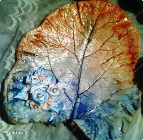 Листья с розами из гипса! фото 3