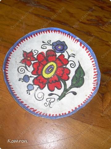 Вот такую тарелочку я сделал для мамы! фото 1