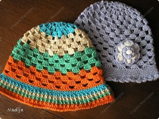 Пряжа Camilla  Madame Tricote  крючок 3-3,5 Для одного головного убора нужно один моток пряжи Шляпки связаны на 2-3 годика  49-50 см  фото 1