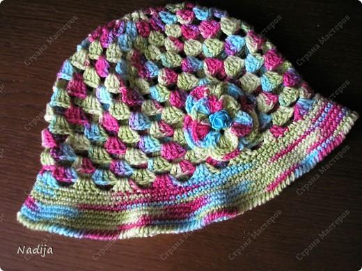 Пряжа Camilla  Madame Tricote  крючок 3-3,5 Для одного головного убора нужно один моток пряжи Шляпки связаны на 2-3 годика  49-50 см  фото 2