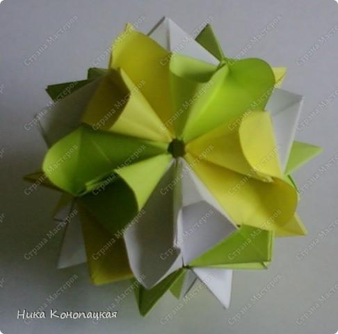 Name: Tsunami Designer: Mariya Vahrusheva Parts: 30 Paper: 7*7 cm Joint: no glue  фото 1