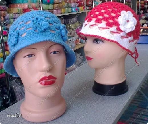 Пряжа Camilla  Madame Tricote  крючок 3-3,5 Для одного головного убора нужно один моток пряжи Шляпки связаны на 2-3 годика  49-50 см  фото 4