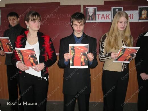 Знакомтесь - 11-А. Сейчас уже студенты, разлетевшиеся по свету. Фотографии из моего школьного архива за 2008 год. Тогда мы отмечали 70-летие Поэта. фото 8