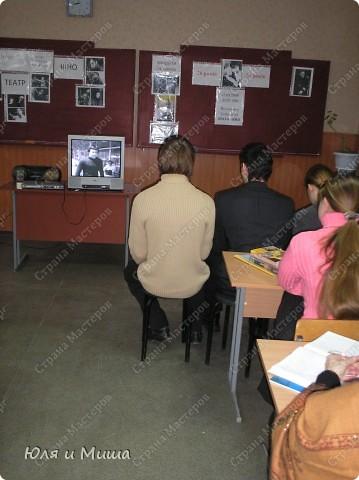 Знакомтесь - 11-А. Сейчас уже студенты, разлетевшиеся по свету. Фотографии из моего школьного архива за 2008 год. Тогда мы отмечали 70-летие Поэта. фото 2