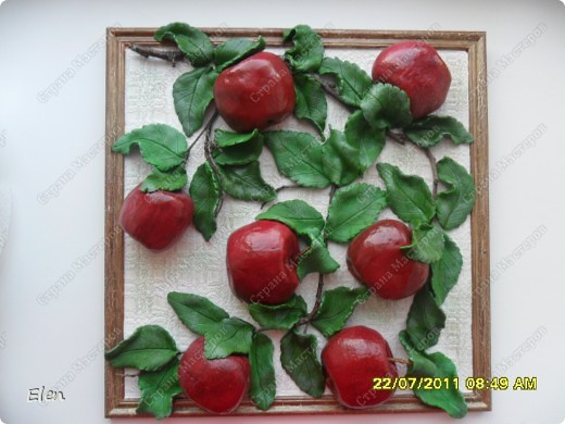 Большое спасибо Марине Архиповой за мк по яблочкам,очень боялась начинать расписывать ядлочки,думала ну точно не получатся,но так они мне нравились фото 4