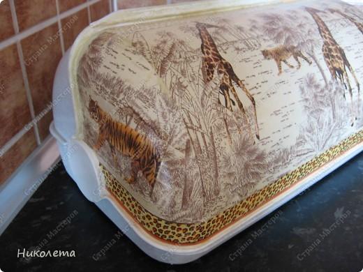 Второй раз преобразила хлебницу, она уже была переделана, http://stranamasterov.ru/node/191029, но этот вариант мне нравится больше, и домашним пришелся по душе.  фото 3