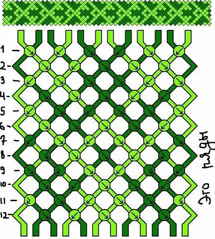 Как понимать схемы косого плетения. МК фото 8