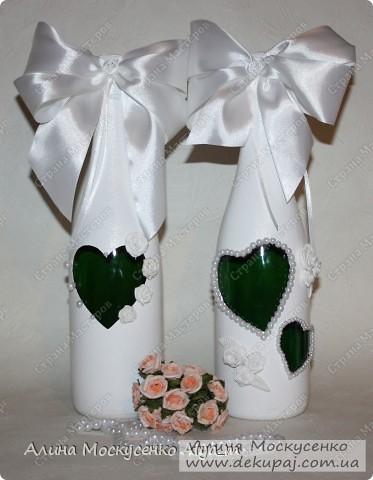 Свадебные работы в технике декупаж. Лепка роз с пластика.  фото 2