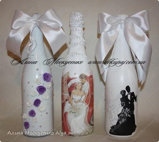 Свадебные работы в технике декупаж. Лепка роз с пластика.  фото 4