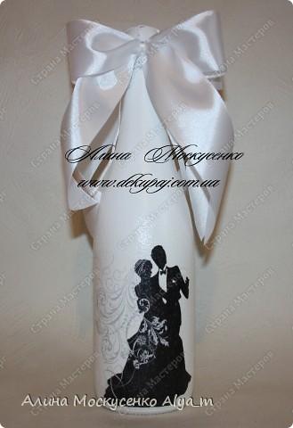 Свадебные работы в технике декупаж. Лепка роз с пластика.  фото 8