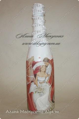 Свадебные работы в технике декупаж. Лепка роз с пластика.  фото 7