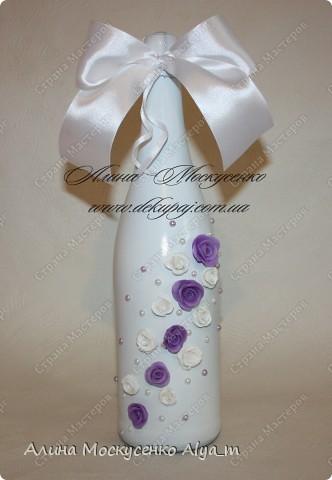 Свадебные работы в технике декупаж. Лепка роз с пластика.  фото 6