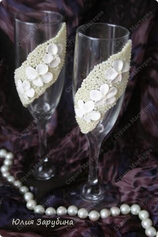 Свадебные бокалы. Подскажите чем украсить! фото 1