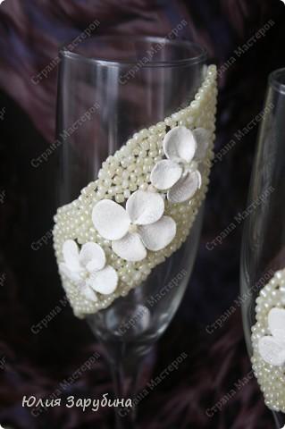 Свадебные бокалы. Подскажите чем украсить! фото 2