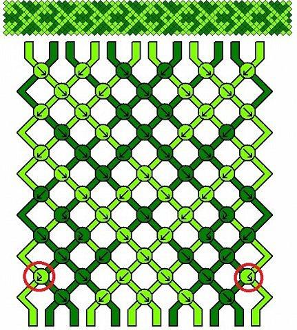 Как понимать схемы косого плетения. МК фото 39