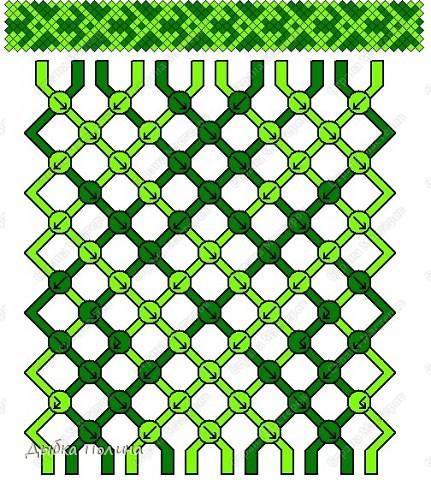 Как понимать схемы косого плетения. МК фото 5