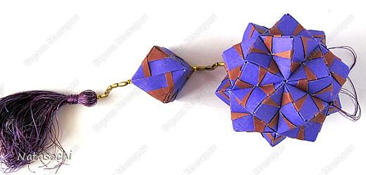 Доброго дня всем!  Первый соноб из книги Mette Pederson «Origami Club1» стр. 32-33. Бумага 6,5 х 6,5 см. 30 модулей. Сборка без клея.  фото 4