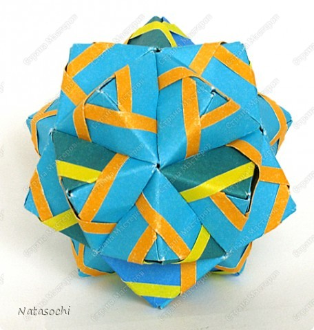 Доброго дня всем!  Первый соноб из книги Mette Pederson «Origami Club1» стр. 32-33. Бумага 6,5 х 6,5 см. 30 модулей. Сборка без клея.  фото 6