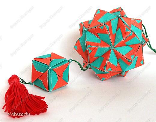 Доброго дня всем!  Первый соноб из книги Mette Pederson «Origami Club1» стр. 32-33. Бумага 6,5 х 6,5 см. 30 модулей. Сборка без клея.  фото 1