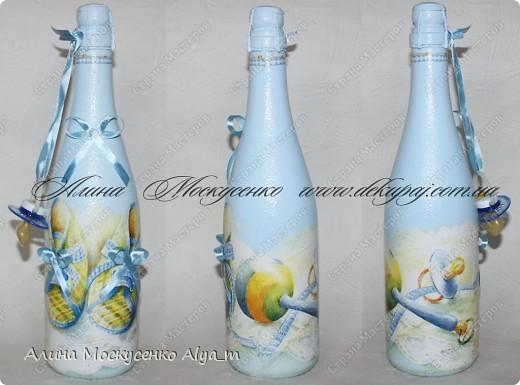 Декор бутылок к дню рождения