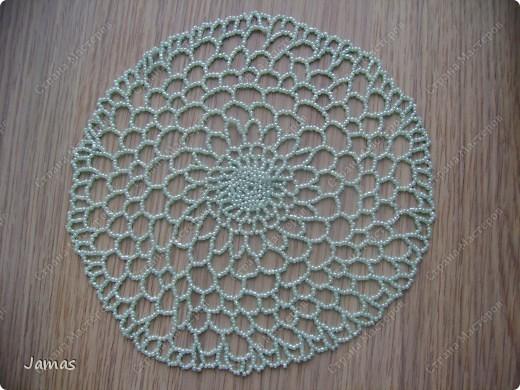 Плетение - Простые салфетки из бисера.